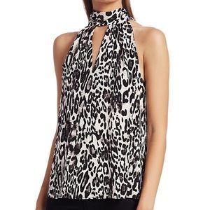 NWT Milly Emma Leopard Print Tie Halterneck Top XS